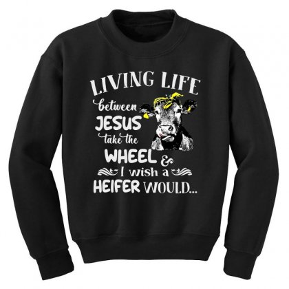Living Life Youth Sweatshirt Designed By