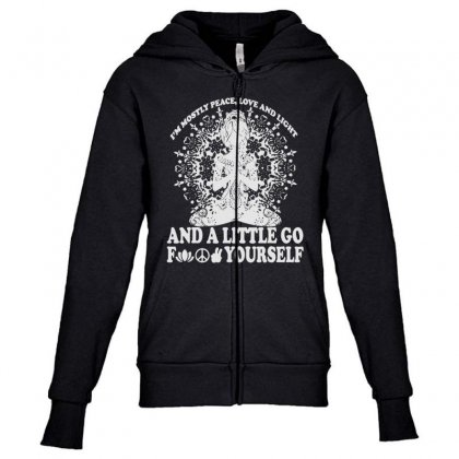 Light Of Love Youth Zipper Hoodie Designed By