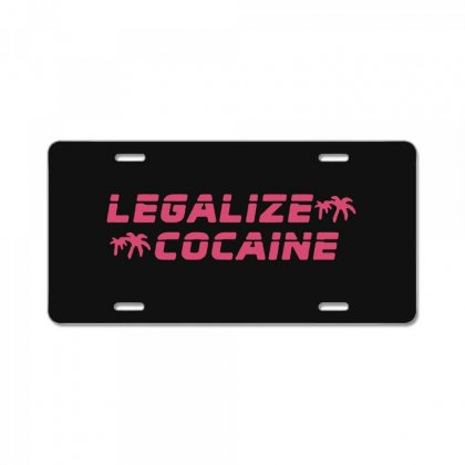 Legalize Cocaine License Plate Designed By