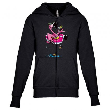 Juice Bird Youth Zipper Hoodie Designed By