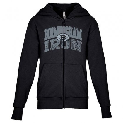 Iron Silver Youth Zipper Hoodie Designed By