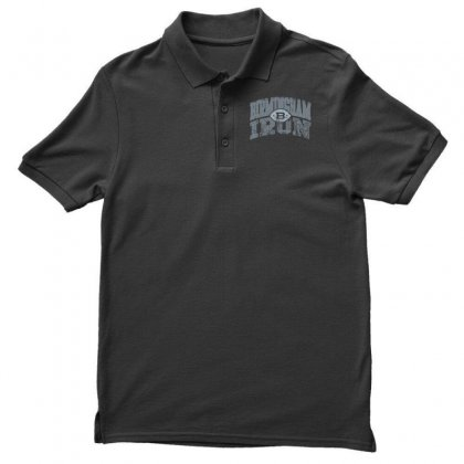 Iron Silver Polo Shirt Designed By