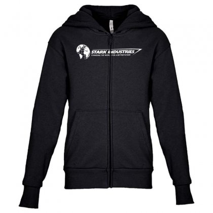 Iron Man Stark Industries Expo Youth Zipper Hoodie Designed By
