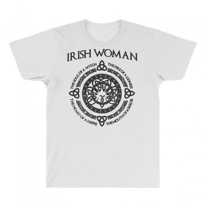 Irish Woman All Over Men's T-shirt Designed By