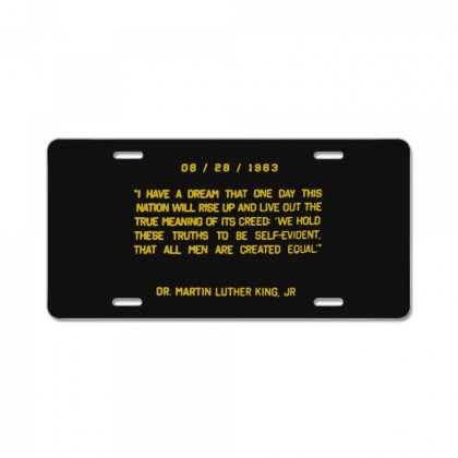I Have A Dream License Plate Designed By