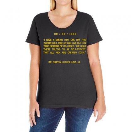 I Have A Dream Ladies Curvy T-shirt Designed By