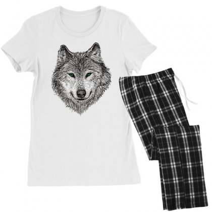 Wolf Women's Pajamas Set Designed By