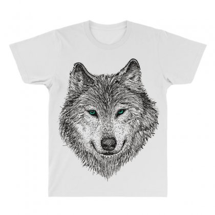 Wolf All Over Men's T-shirt Designed By