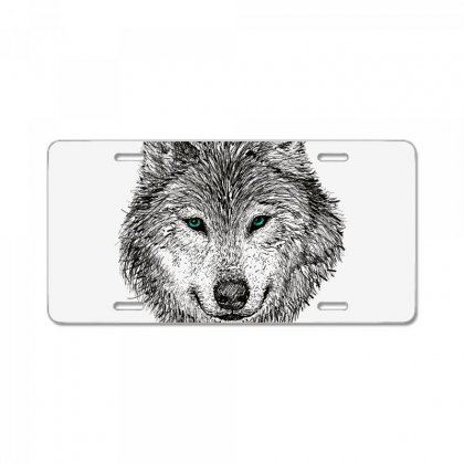 Wolf License Plate Designed By