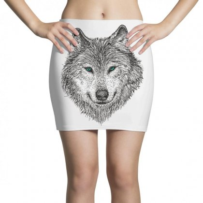 Wolf Mini Skirts Designed By