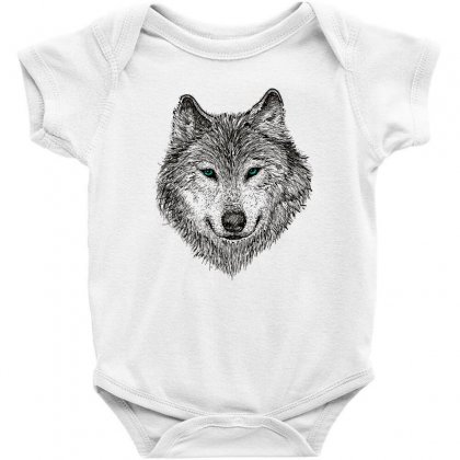 Wolf Baby Bodysuit Designed By