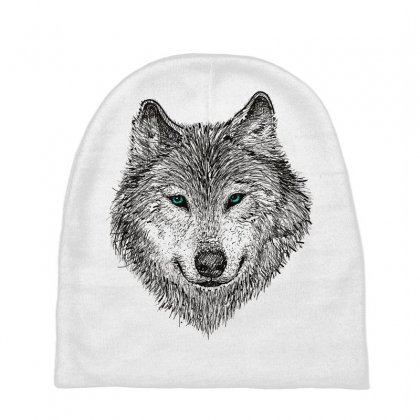 Wolf Baby Beanies Designed By