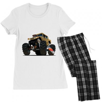 Hummer Monster Truck Women's Pajamas Set Designed By