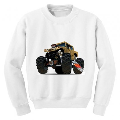 Hummer Monster Truck Youth Sweatshirt Designed By
