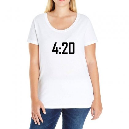 420 Funny Ladies Curvy T-shirt Designed By