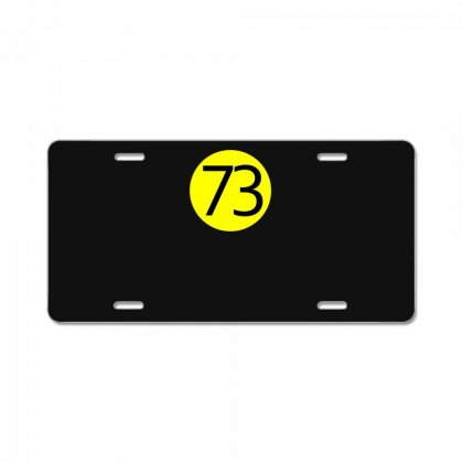 73 The Perfect Number License Plate Designed By