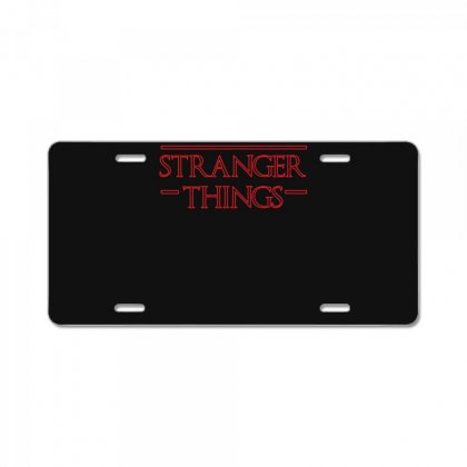 Stranger Things T Shirt License Plate Designed By Hung
