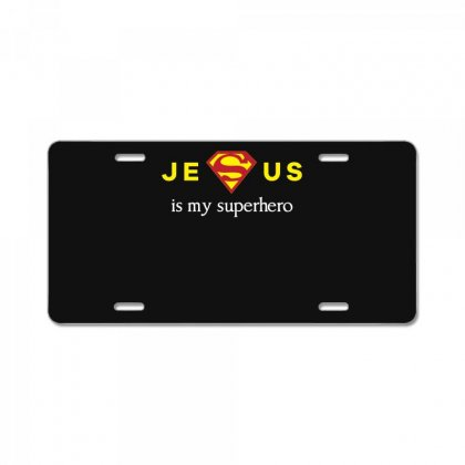 Jesus Is My Superhero T Shirt License Plate Designed By Hung