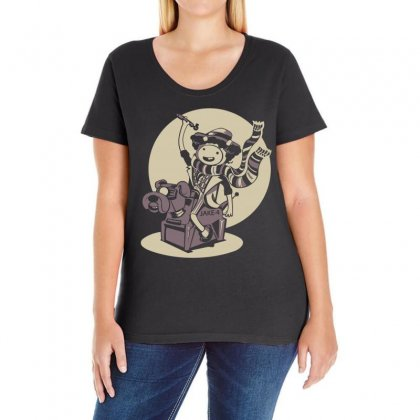 Adventure Time Lord 1977 Ladies Curvy T-shirt Designed By