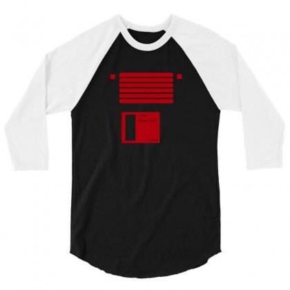 Floppy Disk Computer Retro 3/4 Sleeve Shirt Designed By Equinetee