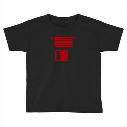 Floppy Disk Computer Retro Toddler T-shirt Designed By Equinetee