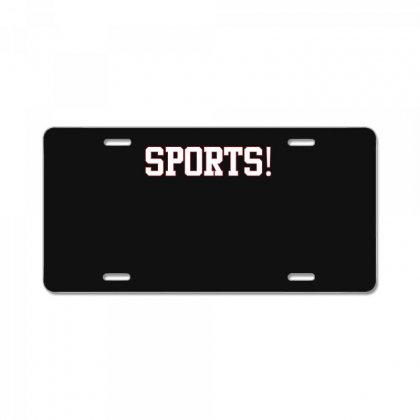 Sports! T Shirt License Plate Designed By Hung