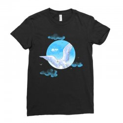 cute seagull Ladies Fitted T-Shirt | Artistshot