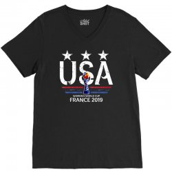 FIFA Women World Cup 2019 Shirt, USA women soccer team in France 2019 V-Neck Tee | Artistshot