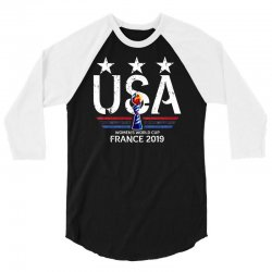 FIFA Women World Cup 2019 Shirt, USA women soccer team in France 2019 3/4 Sleeve Shirt | Artistshot