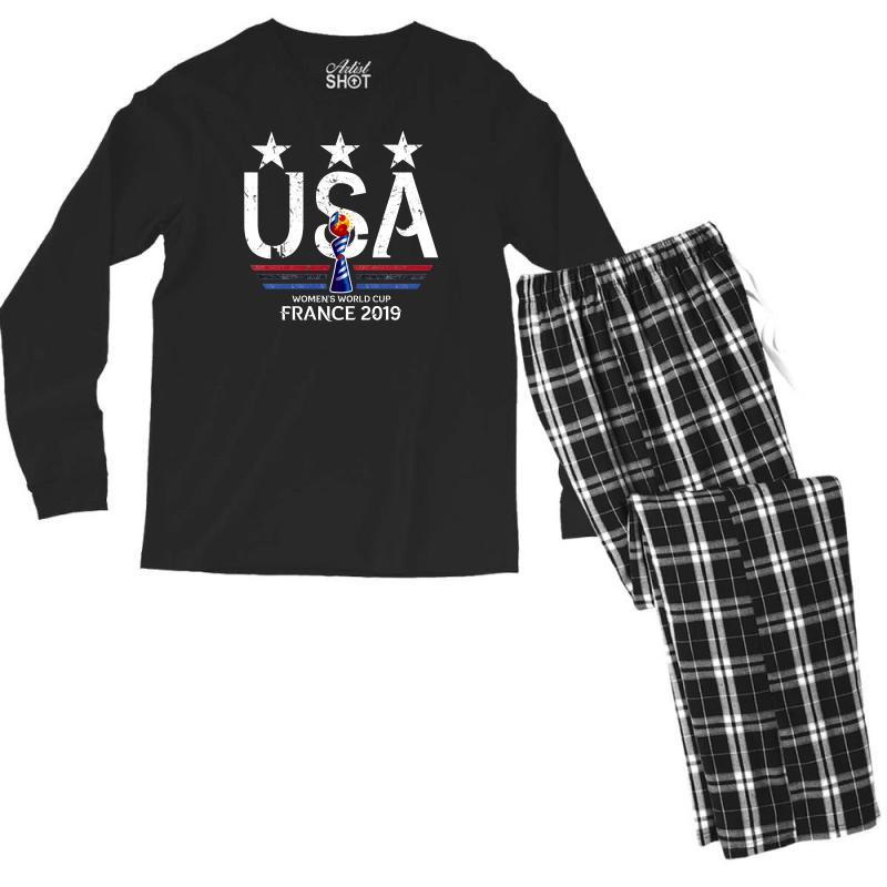 Fifa Women World Cup 2019 Shirt, Usa Women Soccer Team In France 2019 Men's Long Sleeve Pajama Set | Artistshot