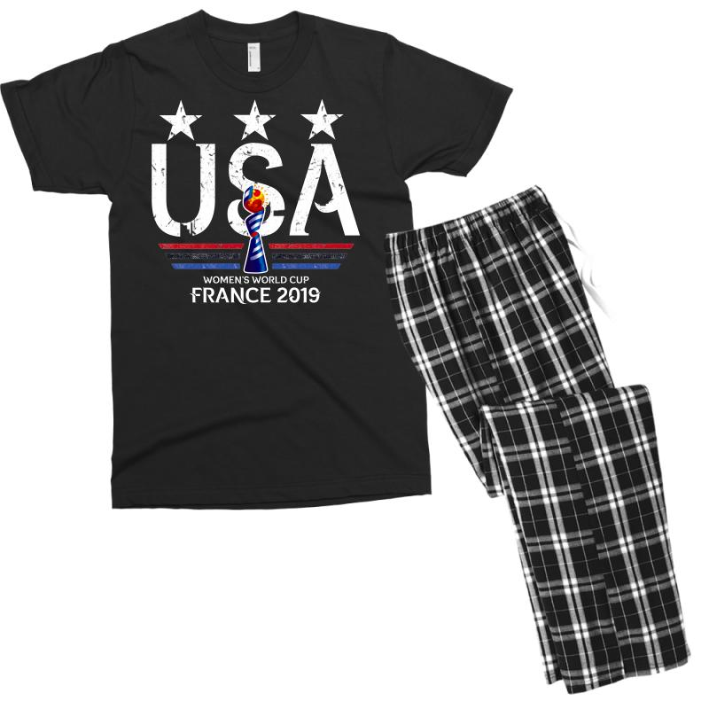 Fifa Women World Cup 2019 Shirt, Usa Women Soccer Team In France 2019 Men's T-shirt Pajama Set | Artistshot