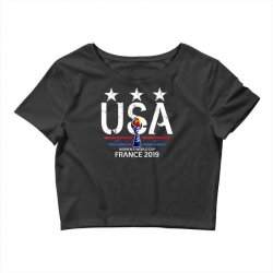 FIFA Women World Cup 2019 Shirt, USA women soccer team in France 2019 Crop Top | Artistshot