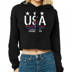 Fifa Women World Cup 2019 Shirt, Usa Women Soccer Team In France 2019 Cropped Hoodie Designed By Vohoangvinh