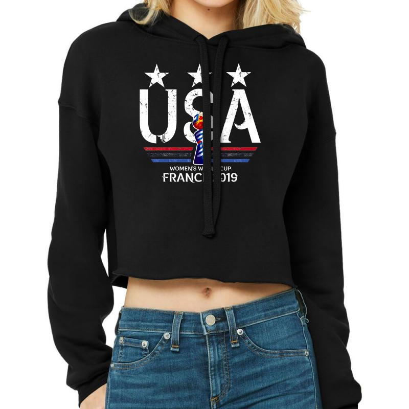 Fifa Women World Cup 2019 Shirt, Usa Women Soccer Team In France 2019 Cropped Hoodie | Artistshot