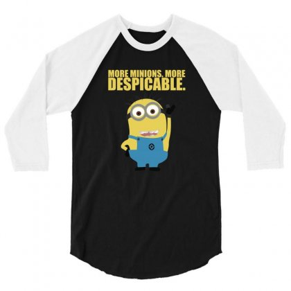 2019 Cute Minions Despicable Me 3/4 Sleeve Shirt Designed By Teeshop