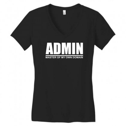 Admin Master Of My Own Domain Women's V-neck T-shirt Designed By Teeshop