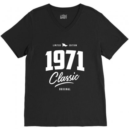 1971 Classic V-neck Tee Designed By Cidolopez