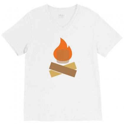 Fire And Cokolate V-neck Tee Designed By Suryanaagus068