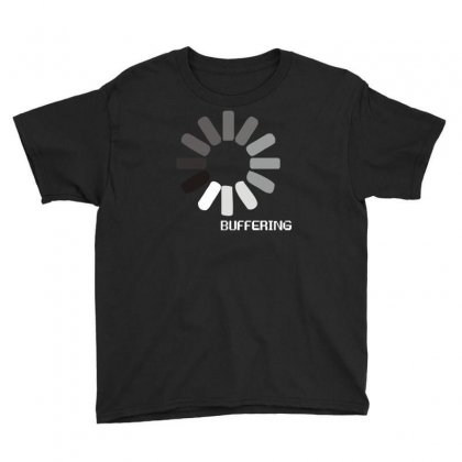 Buffering  Funny Retro Loading Computer Console Fashion Party Youth Tee Designed By Ismi