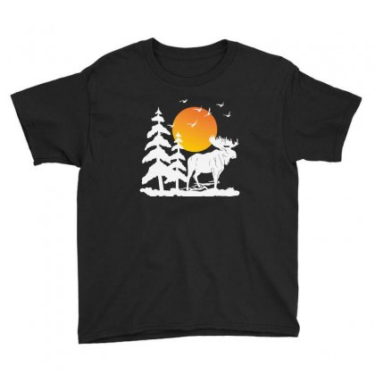 Moose And Moon Youth Tee Designed By Feniavey
