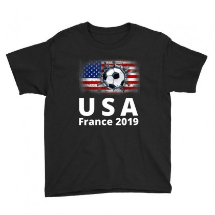 Fifa Women's World Cup France 2019 Youth Tee Designed By Tran Ngoc