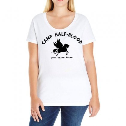 Camp Half Blood Ladies Curvy T-shirt Designed By Omer Acar