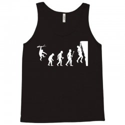 funny rock climbing evolution Tank Top | Artistshot