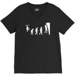funny rock climbing evolution V-Neck Tee | Artistshot