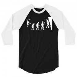 funny rock climbing evolution 3/4 Sleeve Shirt | Artistshot