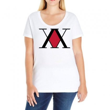 Hunter X Hunter Logo Ladies Curvy T-shirt Designed By Omer Acar