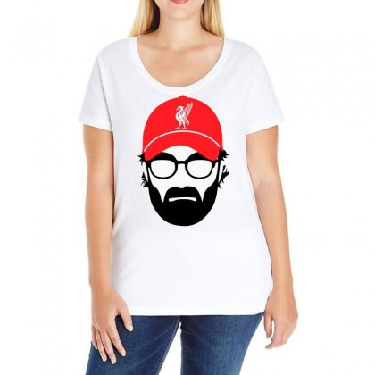 Jurgen Klopp Ladies Curvy T-shirt Designed By Omer Acar