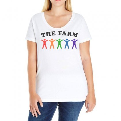 The Farm Ladies Curvy T-shirt Designed By Omer Acar