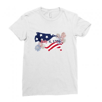 July 4 1776 Ladies Fitted T-shirt Designed By Zeynepu