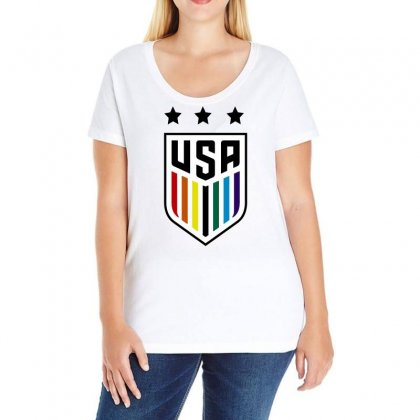 Uswnt Pride Ladies Curvy T-shirt Designed By Omer Acar
